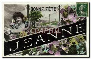 Old Postcard Jeanne Surname