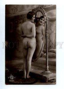 129046 NUDE Woman BELLE MIRROR Vintage PHOTO SOL #3560 PC