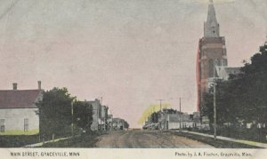 GRACEVILLE , Minnesota, 1900-1910's; Main Street