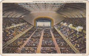 Ohio Cleveland Interior Of The Cleveland Public Hall Curteich