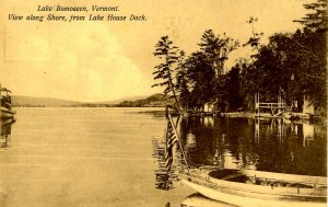 VT - Lake Bomoseen. View of Shore from Lake House Dock