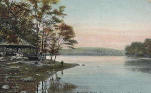 NORWICH , Connecticut , 1909 ; Lake , Mohegan Park