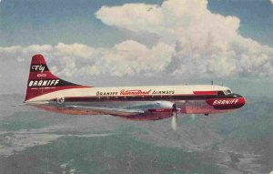 Braniff International Airways Super Convair 340 Plane Aircraft postcard