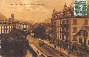Switzerland Interlaken - Bahnhofstrasse 1912