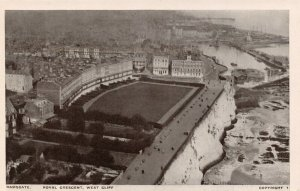 Vintage Kent Postcard, Ramsgate Royal Crescent West Cliff from the Air AC0