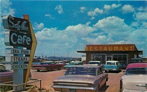 Automobiles Liberals Kansas Sally Ann Restaurant Highway 54 Postcard 10963