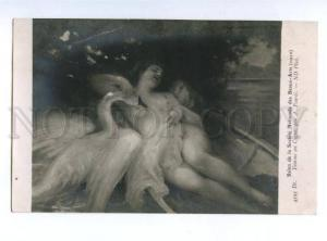139552 NUDE Women LEDA by FOURIE vintage SALON 1910 PC