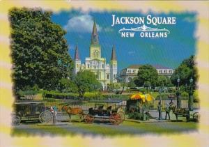 Louisiana New Orleans Jackson Square & St Louis Cathedral
