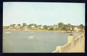 View From Bass River Bridge Postcard, Cape Cod, Mass/MA