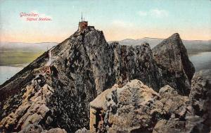 Signal Station, Gibraltar, Early Postcard, Unused