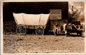 RPPC Covered Wagon Centennial Paulson Livery Stable Neillsville Wisconsin~134653