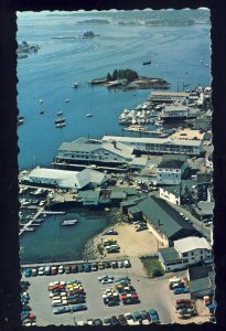 Boothbay Harbor, Maine/ME Postcard, Air View Of Waterfront