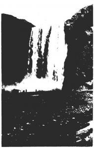 Iceland Skogafoss Waterfall Real Photo