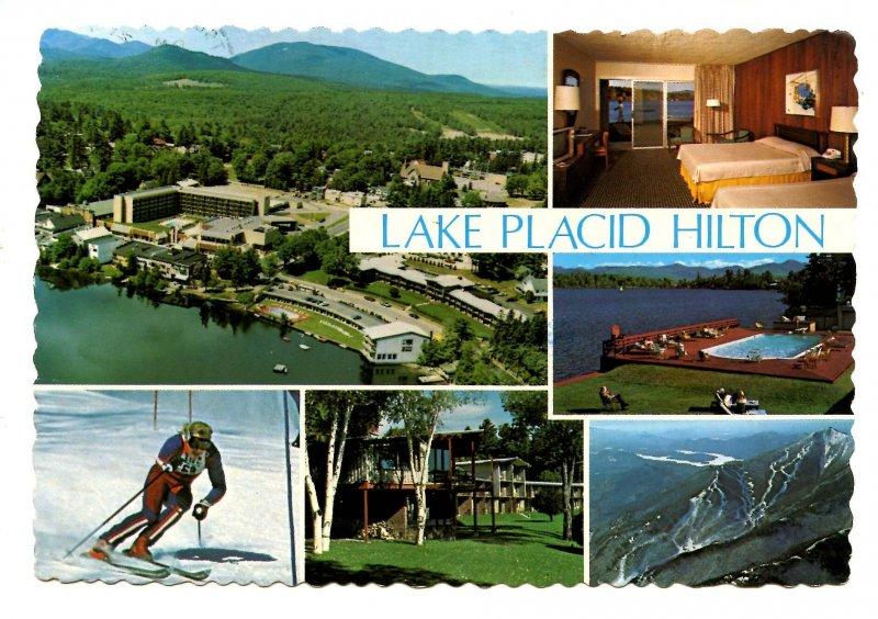 NY - Lake Placid. Lake Placid Hilton on Mirror Lake