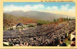 California Hollywood The Hollywood Bowl Curteich