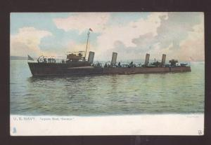 UNITED STATES NAVY TORPEDO BOAT SS DECATUR MILITARY SHIP VINTAGE POSTCARD