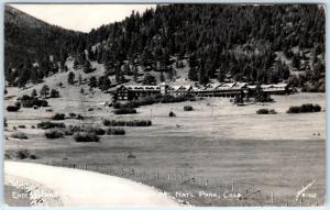 RPPC Rocky Mountain National Park CO  ESTES PARK CHALET RANCH Sanborn Postcard
