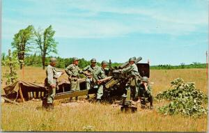National Guard in Action Grayling Michigan MI Military Unused Postcard F1