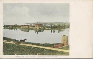 Kingston Ontario from Fort Henry Royal Military College RMC Unused Postcard F8