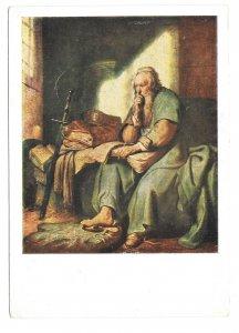 Artist Rembrandt Paulus im Gefangnis Saint Paul in Prison Christophorus Postcard