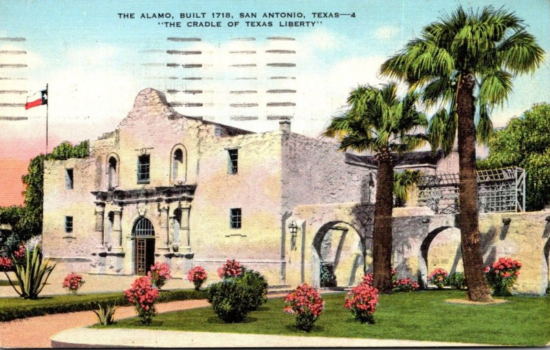Texas San Antonio The Alamo Built 1718 1943