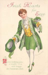 Ellen H Clapsaddle St Patrick's Day~Elegant Young Man in Green Waistcoat~Wolf Co