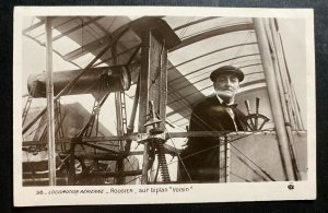 Mint France Real Picture Postcard Early Aviation Voisin Biplane Rougier