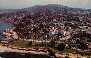 Postcard La Jolla California CA aerial view