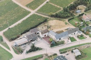 Vins Fins De Sancerre French Wine Farmer Farming Aerial Postcard