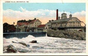 Maine Brunswick Lower Falls 1926