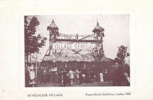 Senegalese Village London British Franco Exhibition Postcard