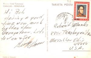 Venezuela Old Vintage Antique Post Card Piscina Hotel Tamanaco Caracas 1969