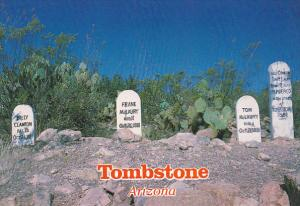 Headstones The Clanton Gang Boot Hill Graveyard Cemetery Tombstone Arizona