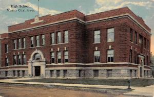 Mason City Iowa High School Street View Antique Postcard K46841