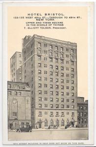 Hotel Bristol New York City Upper Times Square HTF Unique View Kropp Postcard
