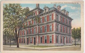 West Virginia WV Postcard c1910 PARKERSBURG US Post Office Building