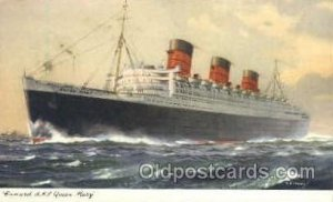 R.M.S. Queen Mary Cunard White Star Line Ship Unused