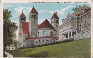 Michigan Ann Arbor St Thomas Catholic Church and Priests Residence Curteich