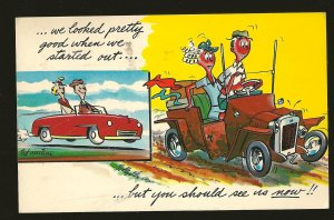 USA Postmarked 1959 Portland Oreg Martine Comic Car Color Postcard