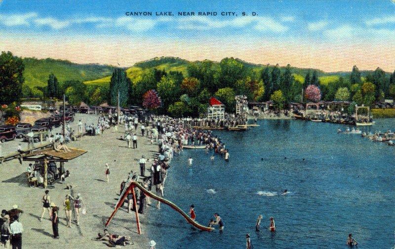 [ Linen ] US So. Dakota Rapid City - Canyon Lake
