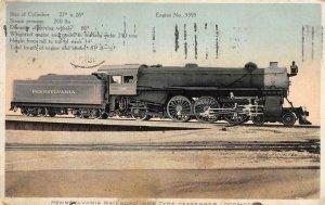 PENNSYLVANIA RAILROAD New Type Passenger Locomotive Train 1913 Vintage Postcard