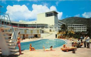 St Thomas Virgin Islands~Virgin Isle Hotel Swimming Pool~Bathing Beauties~1960s
