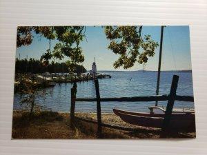 VTG Postcard Lake Winnipesaukee New Hampshire near Long Island 1988 unposted 679