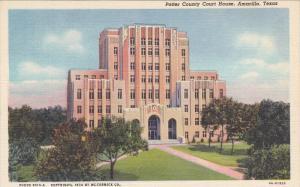 Exterior,  Potter County Court House,  Amarillo,  Texas,  30-40s