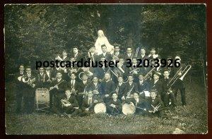 3926 - REAL PHOTO POSTCARDS 1910s Catholic Student Music Band