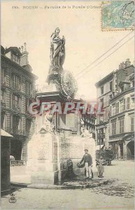 Postcard Rouen Old Fountain of the Maid of Orleans