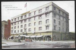 Grand Hotel Taylor & Turk Streets San Francisco California Unused c1910s