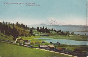 MOUNT HOOD in distance FROM VANCOUVER BARRACKS, Washington 1910s