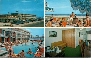 Wildwood Crest NJ~Diamond Crest Resort Motel~Bathing Beauties~Interior~1977 PC