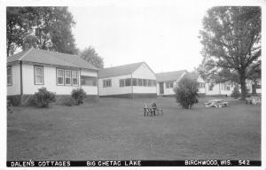 F15/ Birchwood Wisconsin RPPC Postcard '61 Dalen's Cottages Big Chetec Lake